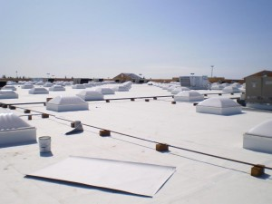 .060 Mechanically Attached Firestone TPO, ISO Insulation, Vapor Barrier,  Metal Flashing And Metal Roofing.